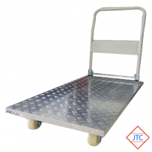 4 Wheel Aluminium Checked Top Folding Trolley