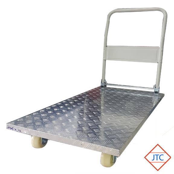 4 Wheel Aluminium Checked Top Folding Trolley