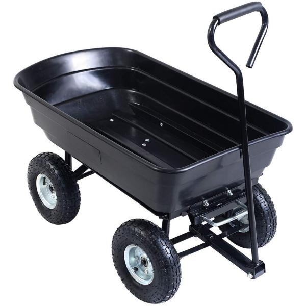 Dump Cart Garden Dumper Trolley