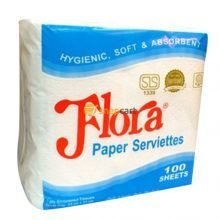 Flora Paper Serviette 1Ply 100 Pack